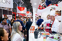 NEW YORK, NY - JUNE 23: A chef serves food during the Summer Fancy Food Show at the Javits Center in the borough of Manhattan on June 23, 2019 in New York, The Summer Fancy Food Show is the largest and biggest specialty food industry event in the continent (Photo by Kena Betancur/VIEWpress/Corbis via Getty Image