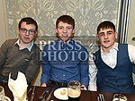 James Winters, Evan Whelan and Tom Gray at the Naomh Mairtin reunion in the Monasterboice Inn. Photo:Colin Bell/pressphotos.ie