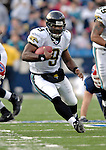 26 November 2006: Jacksonville Jaguars quarterback David Garrard (9) scrambles for yardage against the Buffalo Bills at Ralph Wilson Stadium in Orchard Park, NY. The Bills defeated the Jaguars 27-24. Mandatory Photo Credit: Ed Wolfstein Photo<br />