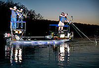 Day one the U.S. Open Bowfishing Championship including a trip onto the lake with Nick Wright (cq), Rich Porter (cq), Ryan Hall (cq), and Steve Greise (cq), Friday, May 2, 2014. The event is hosted and sponsored by Bass Pro Shops.<br /> <br /> Photo by Matt Nager