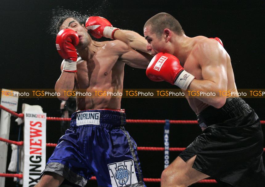 Jozsef Matlosci (Hun) vs Brice Faradji (Fra) - WBF Light-Middleweight Championship at Goresbrook Leisure Centre Dagenham - Faradji defeats Matlosci to take the title - (Gavin Ellis 2006)