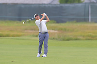 Doug Ghim (AM)(USA) plays his 2nd shot on the 8th hole during Friday's Round 2 of the 118th U.S. Open Championship 2018, held at Shinnecock Hills Club, Southampton, New Jersey, USA. 15th June 2018.<br /> Picture: Eoin Clarke | Golffile<br /> <br /> <br /> All photos usage must carry mandatory copyright credit (&copy; Golffile | Eoin Clarke)