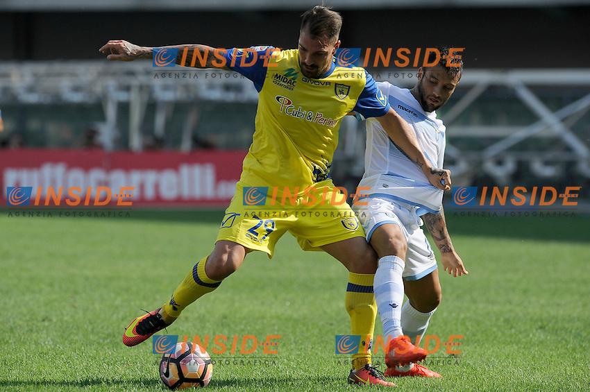 Fabrizio Cacciatore Chievo, Felipe Anderson Lazio <br /> Verona 11-09-2016 Stadio Bentegodi <br /> Football Calcio Serie A Chievo - Lazio <br /> Foto Insidefoto