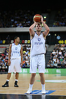 GB's Dan Clark free throw during the EuroBasket 2015 2nd Qualifying Round Great Britain v Bosnia & Herzegovina (Euro Basket 2nd Qualifying Round) at Copper Box Arena in London. - 13/08/2014