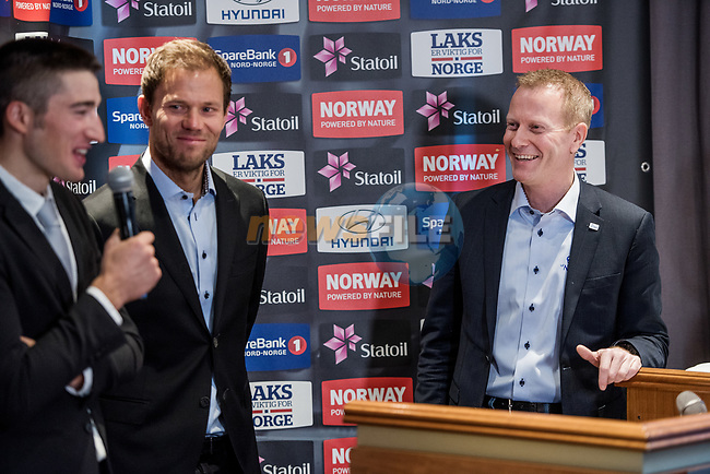 Former pro cyclist Thor Hushovd (NOR) at the presentation of the Artic Race of Norway 2017. 4th January 2017.<br /> Picture: ASO/Benjamin A.Ward   Cyclefile<br /> <br /> <br /> All photos usage must carry mandatory copyright credit (&copy; Cyclefile   ASO/Benjamin A.Ward)