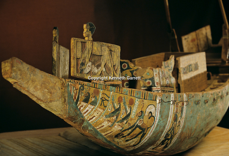 Model Boat Amenhotep II; Wood,KV35, Tutankhamun and the Golden Age of the Pharaohs, Page 74