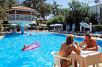 Turkey, Province Antalya, Incekum: holiday resort at Turkish Riviera, Hotel Colibri, pool