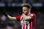 Atletico de Madrid´s Saul Niguez celebrates a goal during 2015-16 La Liga match between Atletico de Madrid and Real Sociedad at Vicente Calderon stadium in Madrid, Spain. March 01, 2016. (ALTERPHOTOS/Victor Blanco)