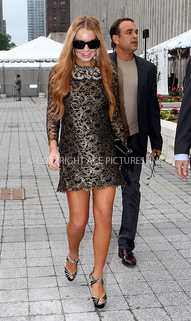 WWW.ACEPIXS.COM . . . . .  ....May 9 2012, New York City....Actress Lindsay Lohan goes to an event at the Lincoln Center on May 9 2012 in New York City....Please byline: NANCY RIVERA- ACEPIXS.COM.... *** ***..Ace Pictures, Inc:  ..Tel: 646 769 0430..e-mail: info@acepixs.com..web: http://www.acepixs.com