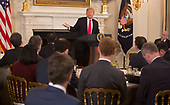 United States President Donald J. Trump hosts the 2018 White House Business Session with  Governors, February 26, 2018, at The White House in Washington, DC. Photo by Chris Kleponis/ CNP