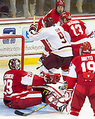 Brendan Silk (BC - 9) - The Boston College Eagles defeated the visiting Boston University Terriers 5-2 on Saturday, December 1, 2012, at Kelley Rink in Conte Forum in Chestnut Hill, Massachusetts.