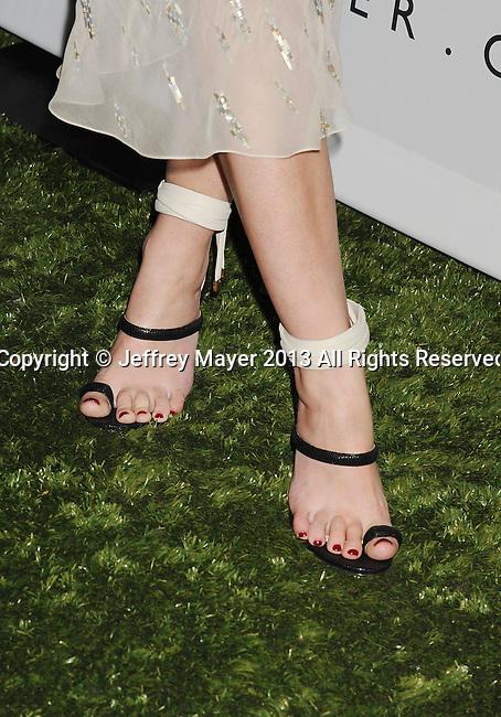 CULVER CITY, CA- NOVEMBER 09: Actress/model Jaime King (shoe detail) at the 2nd Annual Baby2Baby Gala at The Book Bindery on November 9, 2013 in Culver City, California.