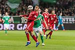 01.12.2018, Weserstadion, Bremen, GER, 1.FBL, Werder Bremen vs FC Bayern Muenchen<br /> <br /> DFL REGULATIONS PROHIBIT ANY USE OF PHOTOGRAPHS AS IMAGE SEQUENCES AND/OR QUASI-VIDEO.<br /> <br /> im Bild / picture shows<br /> Thiago (FC Bayern Muenchen #06), Davy Klaassen (Werder Bremen #30), <br /> <br /> Foto &copy; nordphoto / Ewert