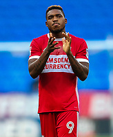 Middlesbrough's Britt Assombalonga<br /> <br /> Photographer Andrew Kearns/CameraSport<br /> <br /> The EFL Sky Bet Championship - Bolton Wanderers v Middlesbrough - Saturday 9th September 2017 - Macron Stadium - Bolton<br /> <br /> World Copyright &copy; 2017 CameraSport. All rights reserved. 43 Linden Ave. Countesthorpe. Leicester. England. LE8 5PG - Tel: +44 (0) 116 277 4147 - admin@camerasport.com - www.camerasport.com