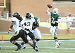 DENTON, TX - AUGUST 31: North Texas Mean Green quarterback Derek Thompson (7) of the North Texas Mean Green Football vs Idaho Vandals at Apogee Stadium in Denton on August 31, 2013 in Denton, Texas. Photo by Rick Yeatts