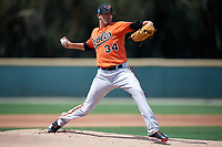 Baltimore Orioles starting pitcher Kevin Gausman (34) delivers a pitch during a Minor League Spring Training game against the Boston Red Sox on March 20, 2018 at Buck O'Neil Complex in Sarasota, Florida.  (Mike Janes/Four Seam Images)