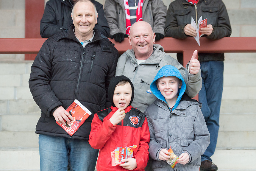 Fans at  Highbury Stadium, home of Fleetwood Town<br /> <br /> Photographer Terry Donnelly/CameraSport<br /> <br /> The EFL Sky Bet League One - Fleetwood Town v Bolton Wanderers - Saturday 11th March 2017 - Highbury Stadium - Fleetwood<br /> <br /> World Copyright &copy; 2017 CameraSport. All rights reserved. 43 Linden Ave. Countesthorpe. Leicester. England. LE8 5PG - Tel: +44 (0) 116 277 4147 - admin@camerasport.com - www.camerasport.com