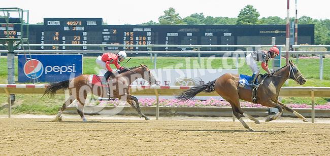 Cat In Motion winning at Delaware Park on 7/12/12