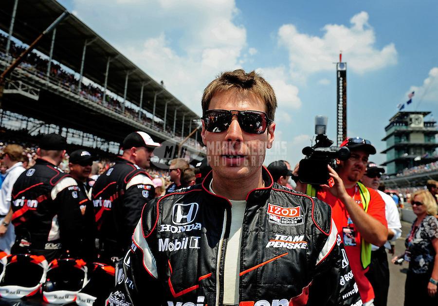 May 30, 2010; Indianapolis, IN, USA; IndyCar Series driver Will Power (12) during the Indianapolis 500 at the Indianapolis Motor Speedway. Mandatory Credit: Mark J. Rebilas-