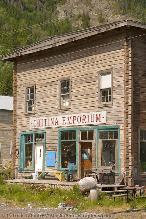 Historic Chitina Emporium building in Chitina, Alaska