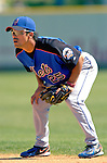 15 March 2006: Kazuo Matsui, infielder for the New York Mets, fielding at second base during a Spring Training game against the Washington Nationals. The Mets defeated the Nationals 8-5 at Space Coast Stadium, in Viera, Florida...Mandatory Photo Credit: Ed Wolfstein..