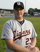 July 22, 2004:  Josh Rainwater of the Oneonta Tigers, Short-Season Low-A NY-Penn League affiliate of the Detroit Tigers, during a game at Dwyer Stadium in Batavia, NY.  Photo by:  Mike Janes/Four Seam Images