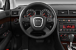 Steering wheel view of a 2005 - 2008 Audi A4 3.2 Sedan.