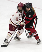 Haley McLean (BC - 13), Lauren Kelly (NU - 2) -  The Boston College Eagles defeated the Northeastern University Huskies 2-1 in overtime to win the 2017 Hockey East championship on Sunday, March 5, 2017, at Walter Brown Arena in Boston, Massachusetts.