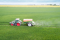 Applying granualarnitrogen to winter wheat - Lincolnshire, May Applying prilled nitrogen to winter wheat - Lincolnshire, May Applying prilled nitrogen to winter wheat - Lincolnshire, May