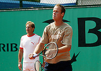 20030605, Paris, Tennis, Roland Garros, Martin Verkerk and coach Nick Carr