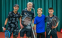 Wateringen, The Netherlands, December 15,  2019, De Rhijenhof , NOJK juniors doubles , Final boys 14 years, Ltr: Jay Temming (NED) and Lars Wagenaar (NED) vs Pieter de Lange (NED) and Manvydas Balciunas (NED)<br /> Photo: www.tennisimages.com/Henk Koster