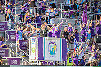 Orlando, FL - Sunday May 14, 2017: Orlando Pride Supporters during a regular season National Women's Soccer League (NWSL) match between the Orlando Pride and the North Carolina Courage at Orlando City Stadium.