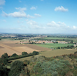 A view from Ham Hill in Somerset.  Once  apple and fruit Orchards covered this landsdcape. Cheap foreign imports have forced growers to grub up their trees thus changing the landscape.