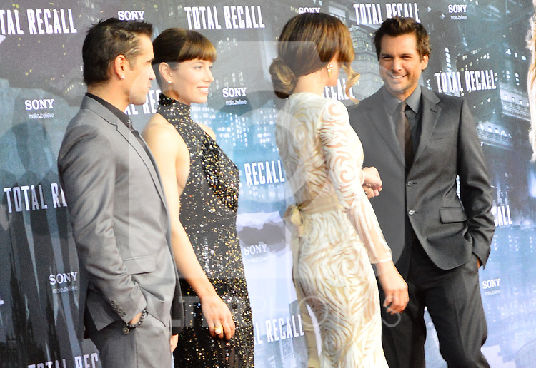 "Berlin, August 13, 2012:  Colin Farrell, Jessica Biel, Kate Beckinsale & Len Wiseman attend the ""Total Recall"" Premiere /NortePhoto.com....**CREDITO*OBLIGATORIO** *No*Venta*A*Terceros*..*No*Sale*So*third* ***No*Se*Permite*Hacer Archivo***No*Sale*So*third*"