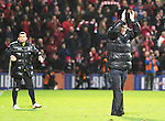Aberdeen v St Johnstone....01.02.14   League Cup Semi-Final<br /> Tommy Wright applauds the fans<br /> Picture by Graeme Hart.<br /> Copyright Perthshire Picture Agency<br /> Tel: 01738 623350  Mobile: 07990 594431