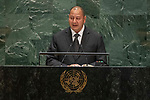 His Majesty King Tupou VI, King, Kingdom of Tonga<br /> <br /> General Assembly Seventy-fourth session, 7th plenary meeting