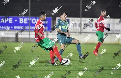 2016-11-26 / Voetbal / Seizoen 2016-2017 / Sint Lenaarts - Eppegem / Mohamed Dahmany met Jens Lambrechts (r. St-Lenaarts)<br /> <br /> ,Foto: Mpics.be