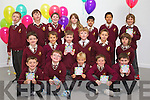Students from the Holy Family School pictured at the launch of the Kerry Children's Festival 'Féile Barraicíní' taking place from Friday 28th October to Friday 4th November