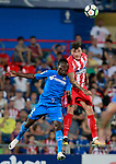 Getafe CF's Djene Dakoman (l) and Atletico de Madrid's Jose Maria Gimenez during friendly match. August 11,2017. (ALTERPHOTOS/Acero)