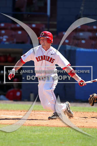 Illinois State Redbirds outfielder Tyler McNeely #5 during a game vs. the Ohio State Buckeyes at Chain of Lakes Park in Winter Haven, Florida;  March 11, 2011.  Illinois defeated Ohio State 12-1.  Photo By Mike Janes/Four Seam Images