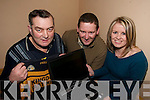 WORLD WIDE: Members of Currow GAA Club at the launch of their new website at the Currow GAA Grounds on Friday night..L/r.  Paddy O'Sullivan (Chairman), James Brosnan (PRO) and Sandra Brosnan (Secretary).