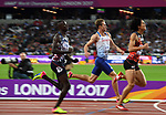 Jack GREEN (GBR) in the mens 400m hurdles semi-final. IAAF world athletics championships. London Olympic stadium. Queen Elizabeth Olympic park. Stratford. London. UK. 07/08/2017. ~ MANDATORY CREDIT Garry Bowden/SIPPA - NO UNAUTHORISED USE - +44 7837 394578