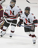 Jimmy Russo, Bryan Esner - The Boston College Eagles and Northeastern University Huskies tied at 1 on Saturday, October 22, 2005, at Matthews Arena in Boston, Massachusetts.