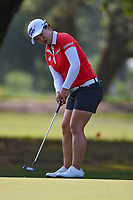 Sei Young Kim (KOR) watches her putt on 1 during round 1 of the 2019 US Women's Open, Charleston Country Club, Charleston, South Carolina,  USA. 5/30/2019.<br /> Picture: Golffile | Ken Murray<br /> <br /> All photo usage must carry mandatory copyright credit (© Golffile | Ken Murray)