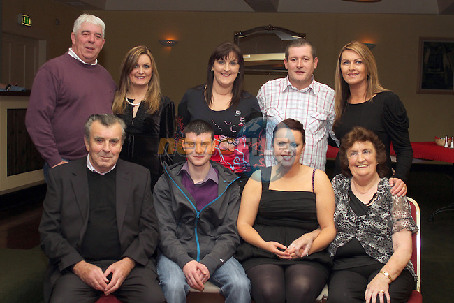 Declan Hill with family at his 21st in The Star and Crescent...(Photo credit should read Jenny Matthews www.newsfile.ie)....This Picture has been sent you under the conditions enclosed by:.Newsfile Ltd..The Studio,.Millmount Abbey,.Drogheda,.Co Meath..Ireland..Tel: +353(0)41-9871240.Fax: +353(0)41-9871260.GSM: +353(0)86-2500958.email: pictures@newsfile.ie.www.newsfile.ie.