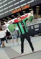 Thursday 08 August 2013<br /> Pictured: A Swansea supporter outside the Swedbank Stadium.<br /> Re: Malmo FF v Swansea City FC, UEFA Europa League 3rd Qualifying Round, Second Leg, at the Swedbank Stadium, Malmo, Sweden.