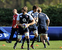 Bagshot, England. Geoff Parling of England during the England training session held at Pennyhill Park on November 8, 2012 in Bagshot, England.