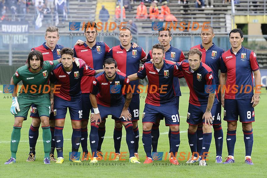 Formazione Genoa. Team line ups <br /> <br /> Brescia 26-07-2014 Stadio Mario Rigamonti  <br /> Calcio 2014/2015 Brescia - Genoa <br /> Foto Daniele Buffa / Image/ Insidefoto