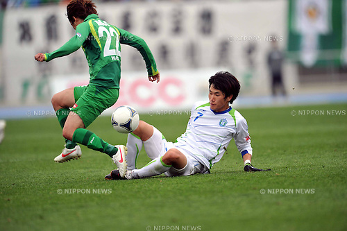Han Kook Young (Bellmare), APRIL 22, 2012 - Football /Soccer : 2012 J.LEAGUE Division 2 ,9th sec match between Tokyo Verdy 1-2 Shonan Bellmare at Komazawa Olympic Park Stadium, Tokyo, Japan. (Photo by Jun Tsukida/AFLO SPORT) [0003]