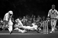 Pix:Michael Steele/SWpix...Cricket. Worcestershire v Middlesex, Uxbridge, 1991...COPYRIGHT PICTURE>>SIMON WILKINSON..Ian Botham goes for a run out.